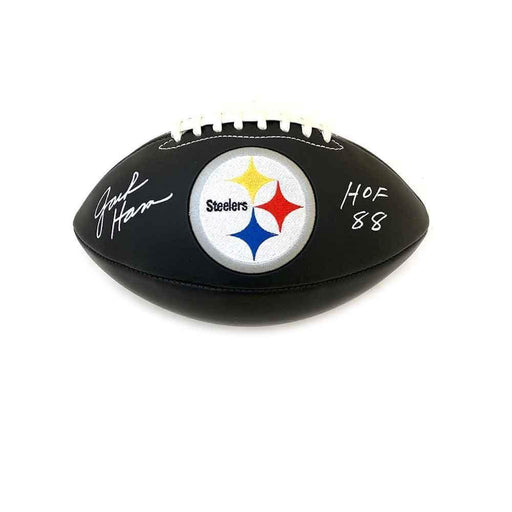 Jack Ham Autographed Black Football with HOF 88