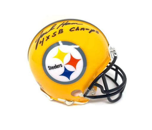 "Jack Ham Autographed Pittsburgh Steelers 75th Anniversary Mini Helmet ""4X SB Champs"""