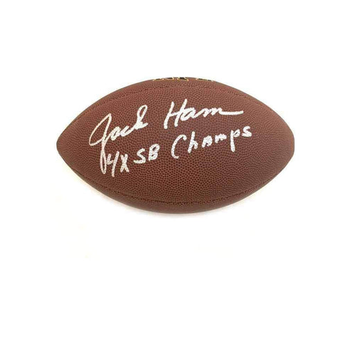 Jack Ham Autographed Replica NFL Football with 4X SB Champs