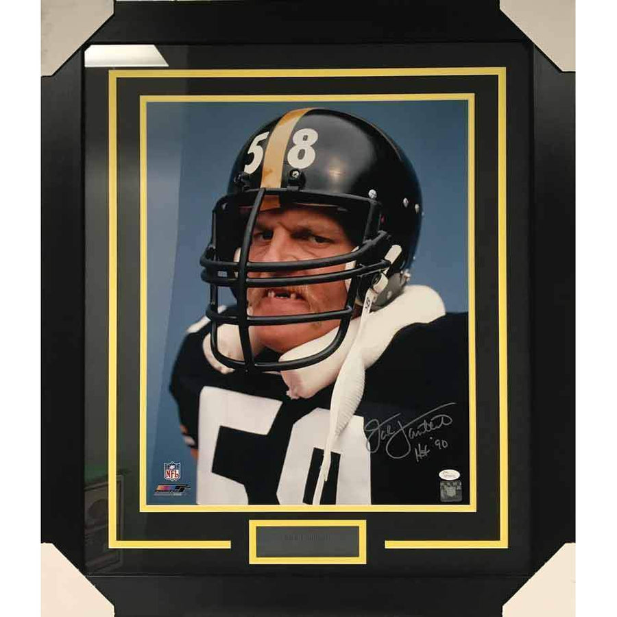16d96e156 Jack Lambert Autographed 16x20 No Teeth Photo Professionally Framed