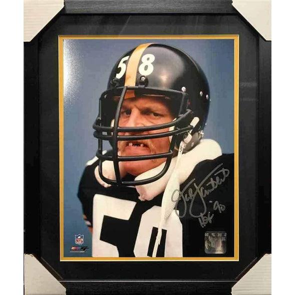 Jack Lambert Autographed 16x20 No Teeth Photo Professionally Framed No Nameplate