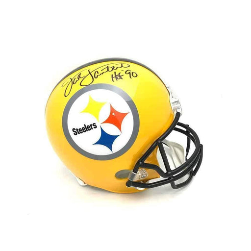 Jack Lambert Autographed 75Th Anniversary Replica Full-Size Helmet With 'Hof 90' - DAMAGED