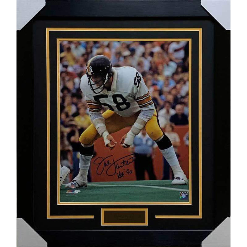 sale retailer d8667 7fd7b Jack Lambert Autographed Ready in White 16x20 Photo ...