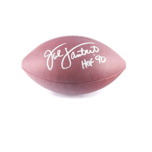 Jack Lambert Autographed Wilson Replica Football With Hof '90 - Damaged