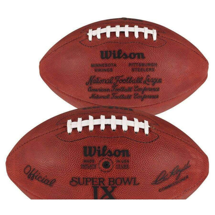 Jack Lambert, Jack Ham, Andy Russell Autographed Authentic SB IX Football