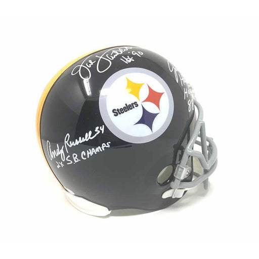 Jack Lambert, Jack Ham, Andy Russell Autographed Full Size Replica TB Helmet