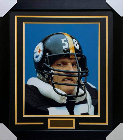 Jack Lambert No Teeth Unsigned 16x20 Photo - Professionally Framed