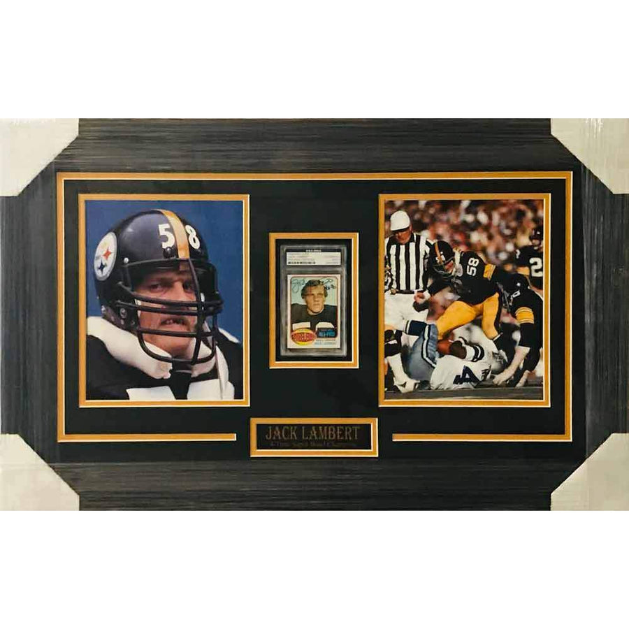 c70e478ce 20 X 24  Pano. Jack Lambert Signed Rookie Card with 2 11x14 s -  Professionally Framed