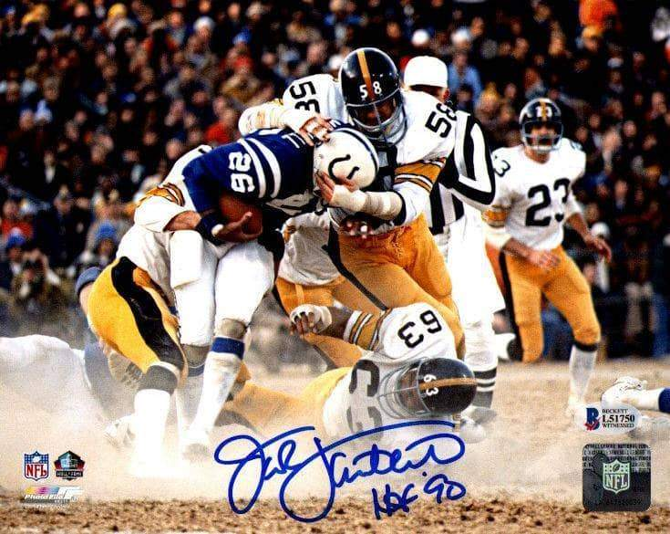 Jack Lambert Signed Tackling Colts 8x10 Photo