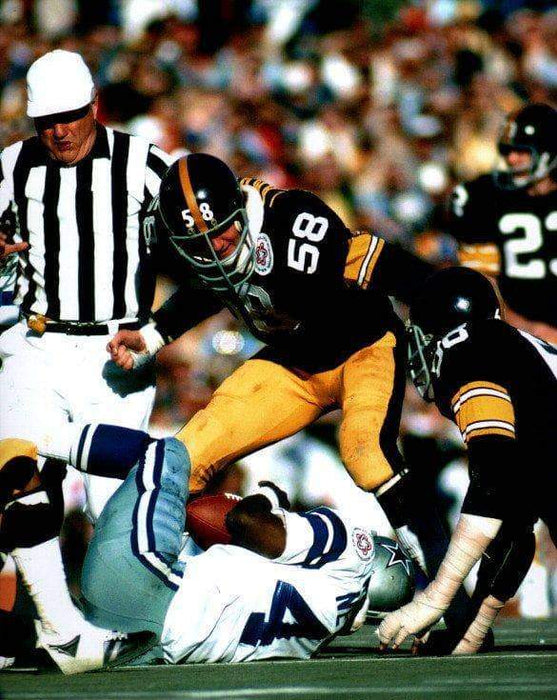Jack Lambert Standing Over Cowboys Unsigned 8x10 Photo