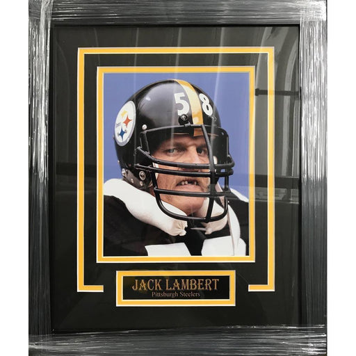Jack Lambert UNSIGNED Professionally Framed Close-up 8x10 Photo