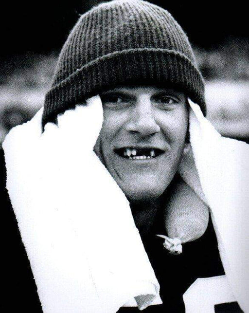 Jack Lambert with Hat and Towel on Head / No Teeth Unsigned 8x10 Photo