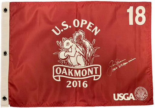 Jack Nicklaus Signed 2016 US Open Pin Flag with 1962 US Open Winner