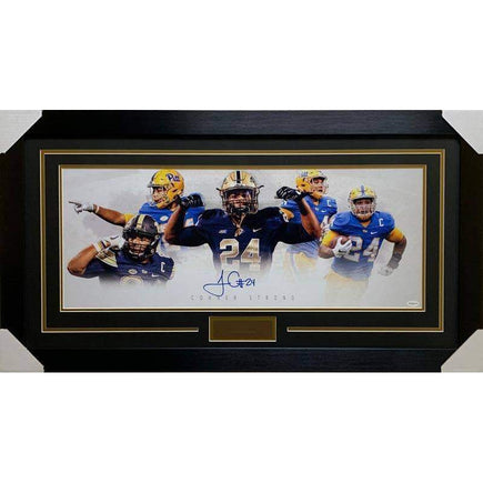 James Conner Autographed Custom PITT Panoramic - Professionally Framed