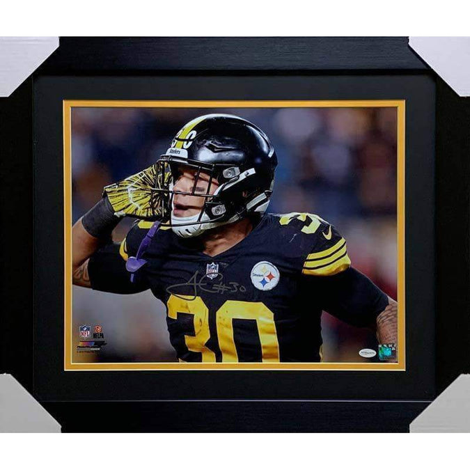 James Conner Autographed I Can't Hear You 16x20 Photo - Professionally Framed