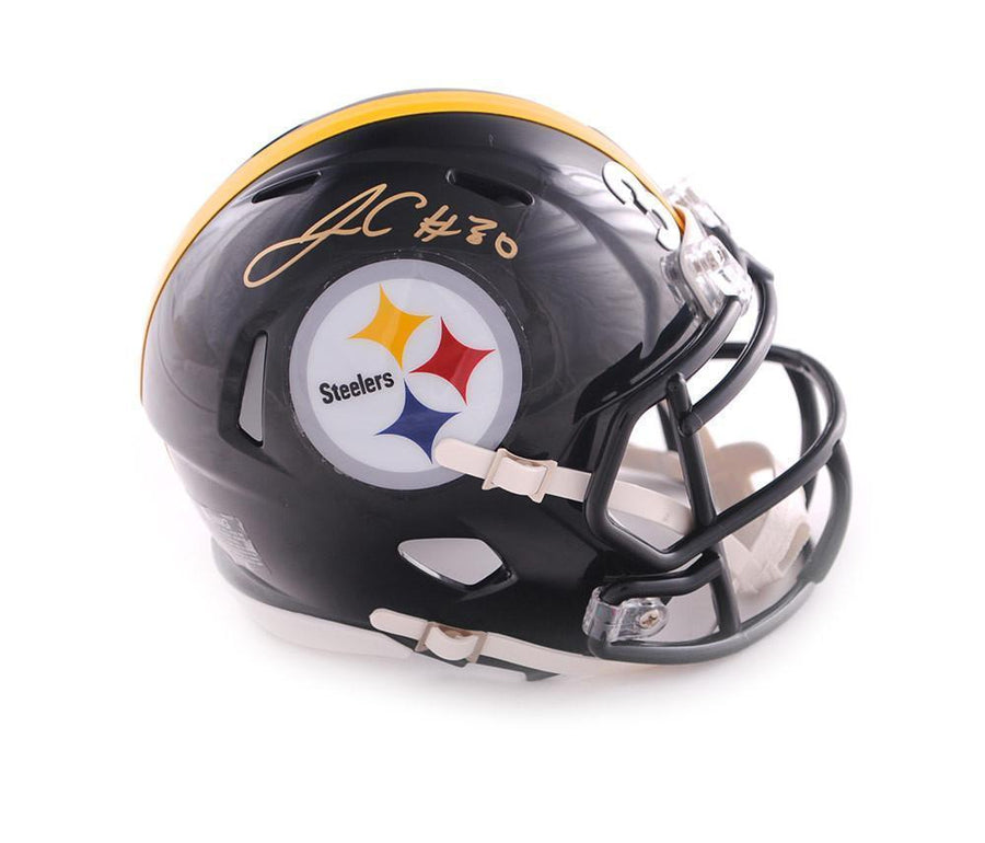 James Conner Autographed Pittsburgh Steelers Black Mini SPEED Helmet