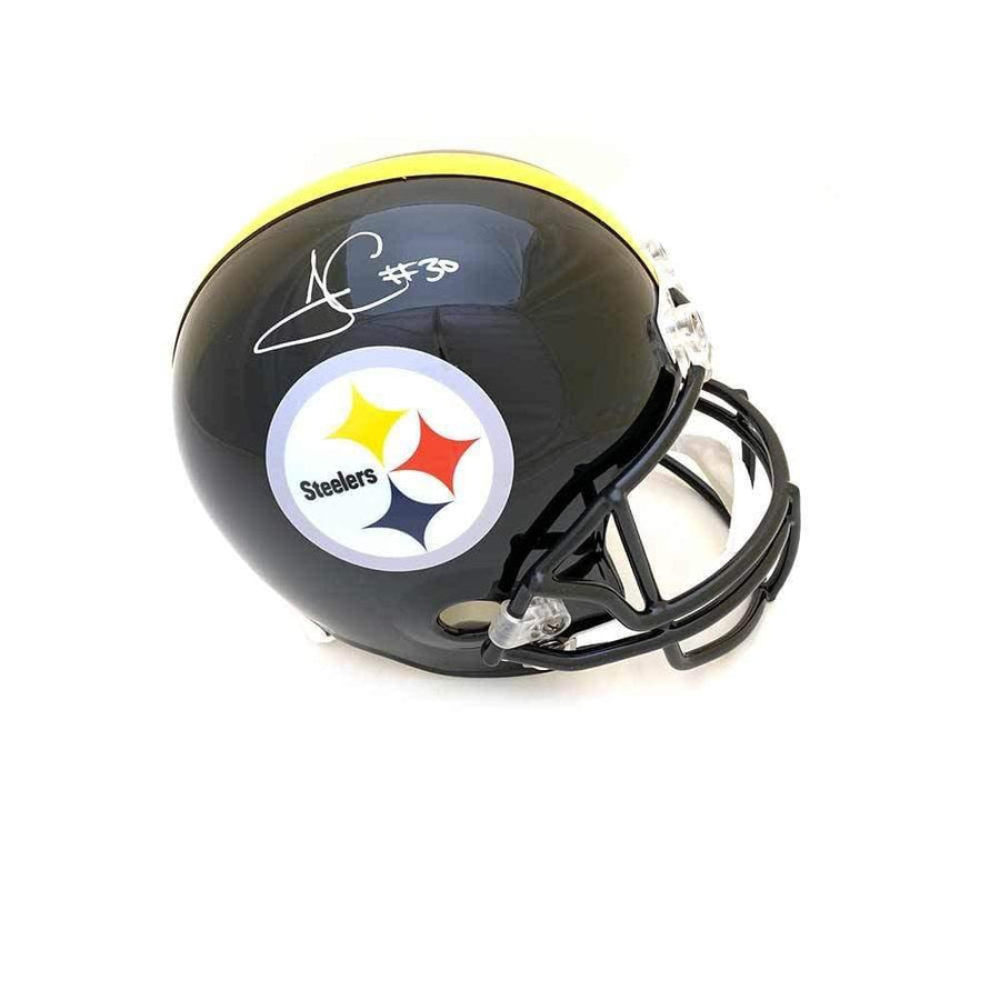 James Conner Autographed Pittsburgh Steelers Full Sized Black Replica Helmet