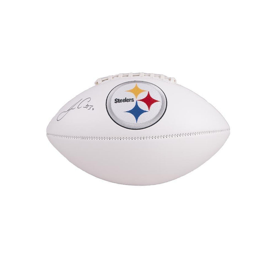 James Conner Autographed Pittsburgh Steelers White Logo Football