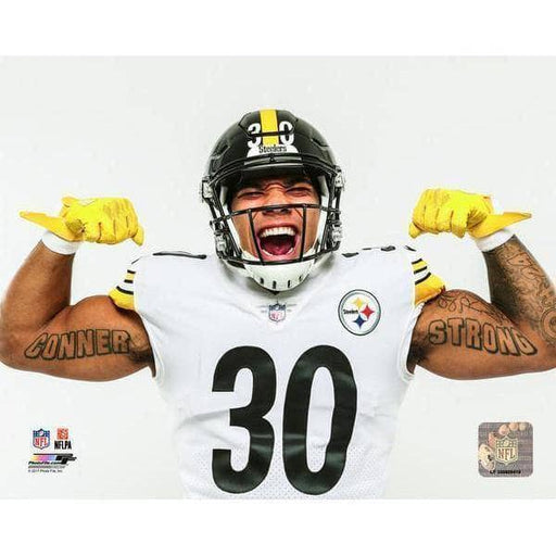 James Conner Flexing In White Unsigned 8X10