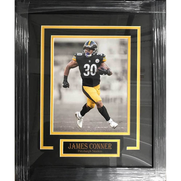 James Conner UNSIGNED Professionally Framed Running in Black Custom 8x10 Photo