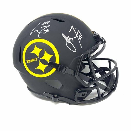 James Farrior and Larry Foote Autographed Pittsburgh Steelers Full Size Replica Eclipse Helmet