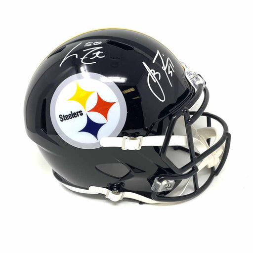James Farrior and Larry Foote Autographed Pittsburgh Steelers Full Size Replica Speed Helmet