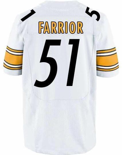 James Farrior Autographed Custom White Jersey