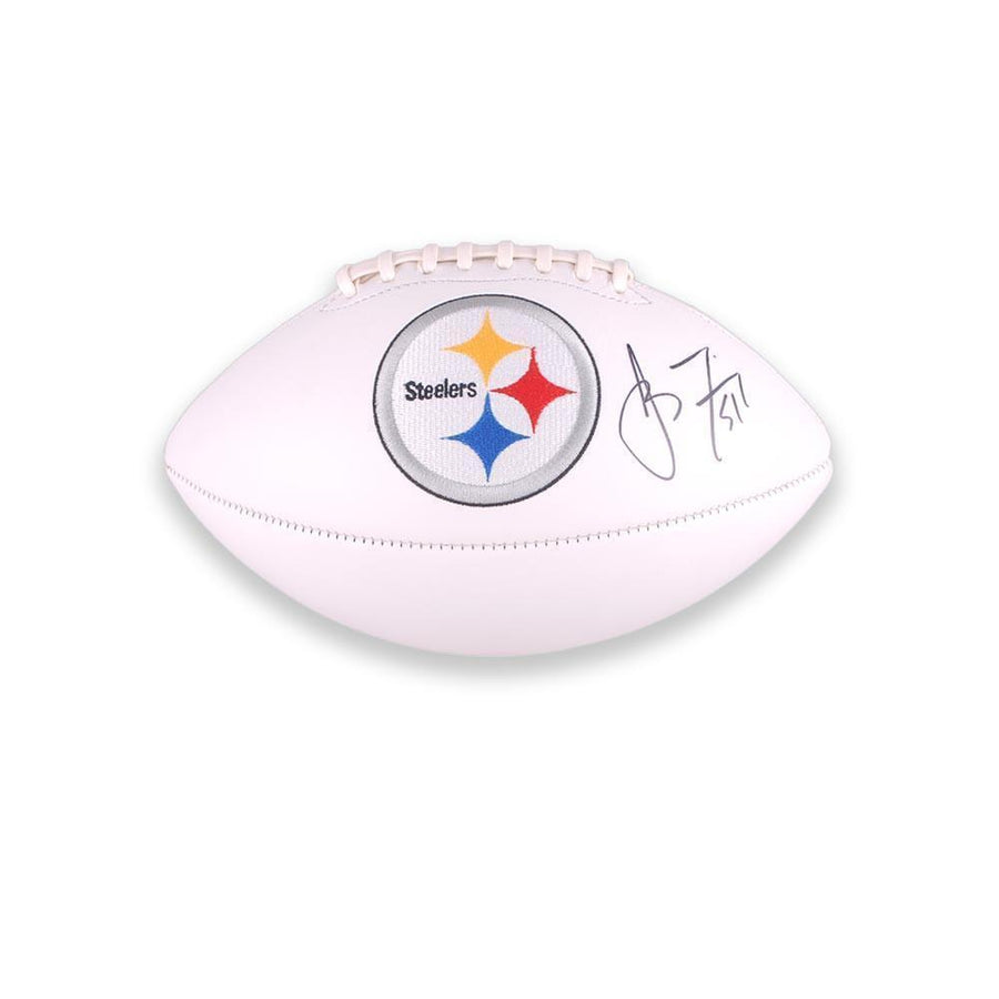 James Farrior Autographed White Logo Football