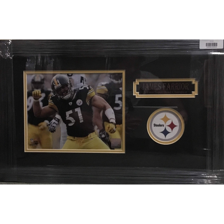 James Farrior Celebrating 8x10 Unsigned - Professionally Framed