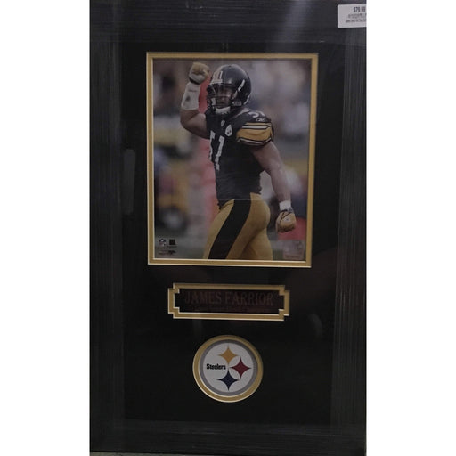 James Farrior Fist Pump 8x10 Unsigned - Professionally Framed