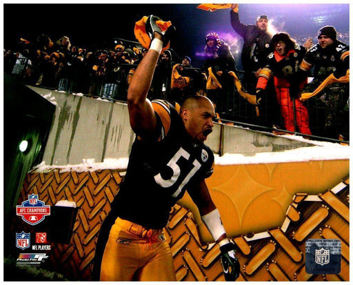 James Farrior Waving Terrible Towel 8x10 Photo - Unsigned