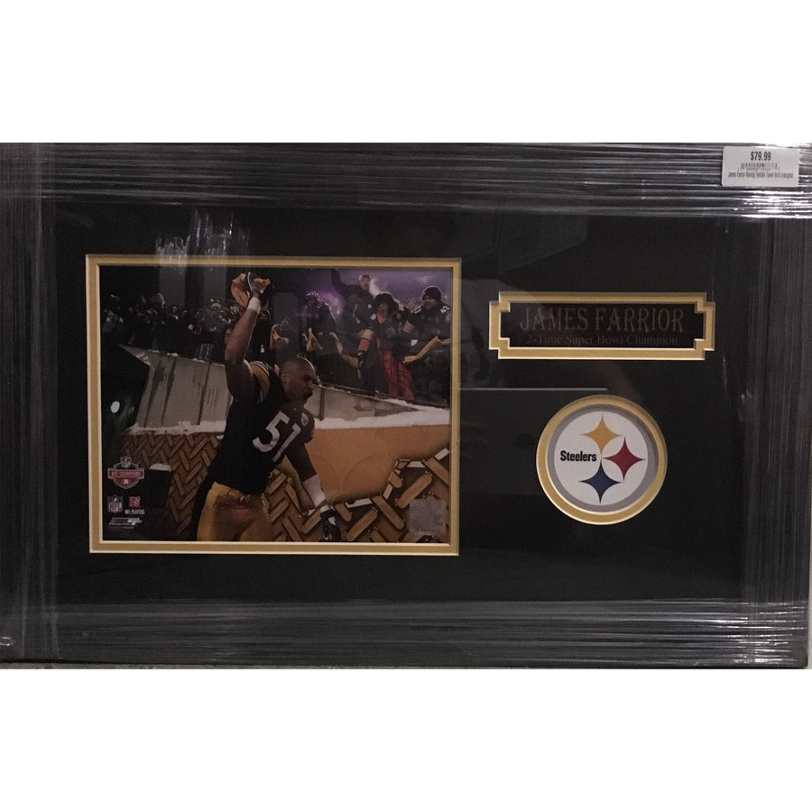 James Farrior Waving Terrible Towel 8x10 Unsigned - Professionally Framed