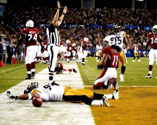 James Harrison Laying in Endzone SB43 Color Unsigned 8x10 Photo