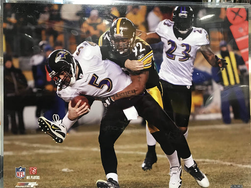 James Harrison Sacking Joe Flacco 16x20 Photo-UNSIGNED