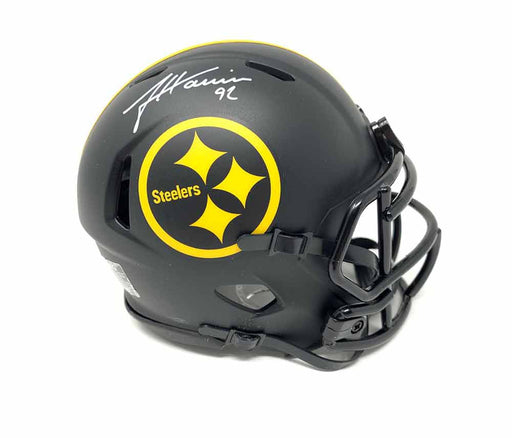 James Harrison Signed Pittsburgh Steelers Eclipse Mini Helmet