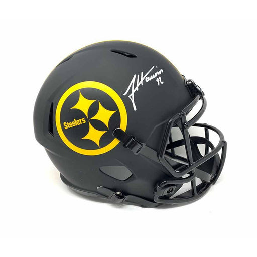 James Harrison Signed Pittsburgh Steelers Replica Eclipse Full Size Helmet