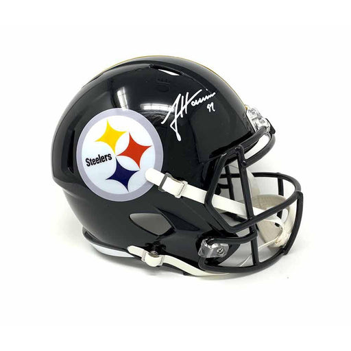 James Harrison Signed Pittsburgh Steelers Replica Full Size Helmet