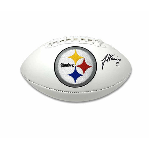 James Harrison Signed Pittsburgh Steelers White Logo Football