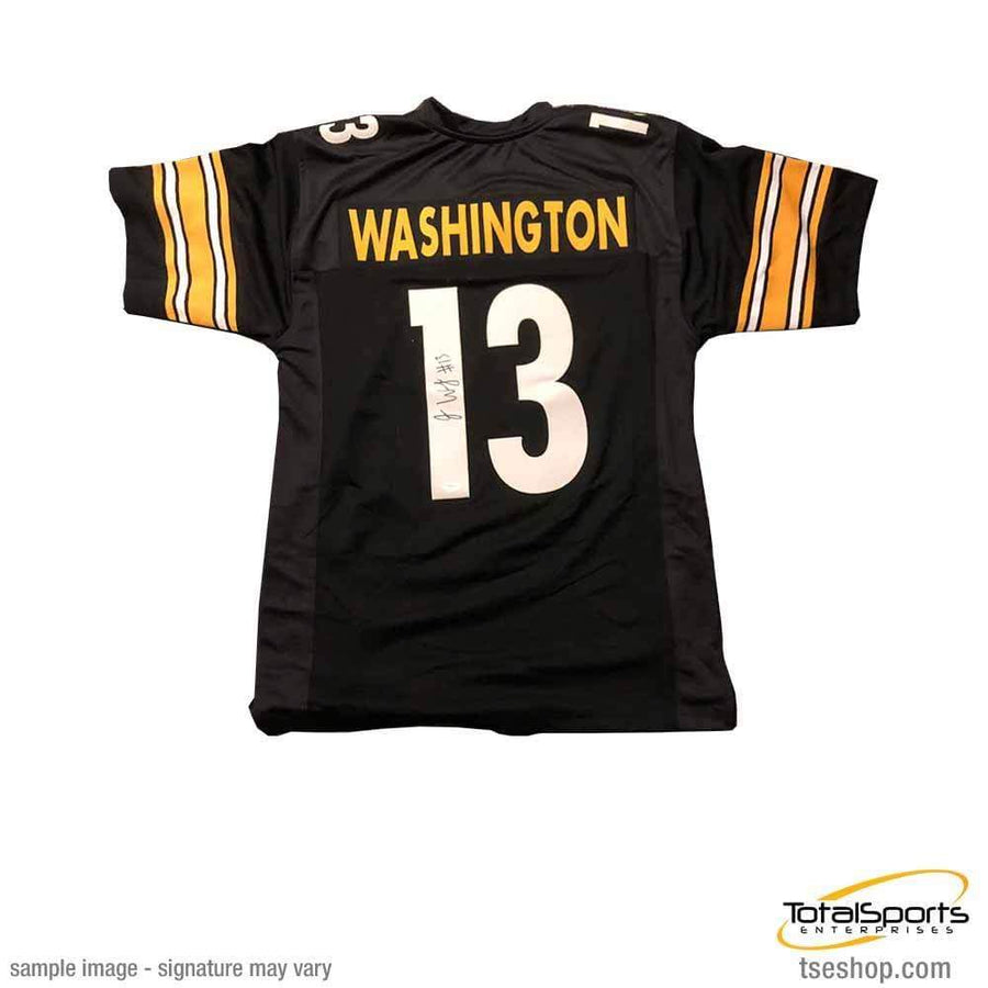 Signed STEELERS Jerseys James Washington Signed Custom Black Jersey