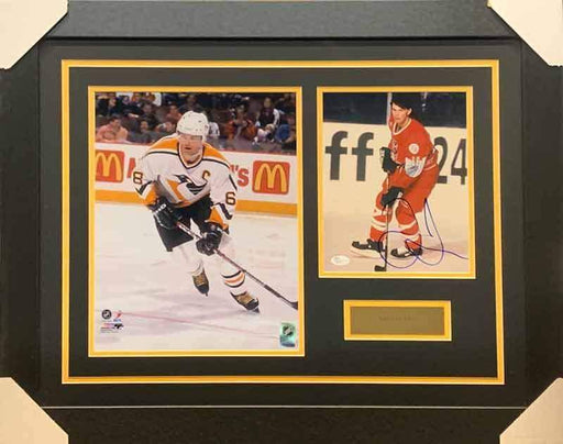 Jaromir Jagr Signed in Red Uniform 8x10 Photo with Skating in Penguins White - Professionally Framed