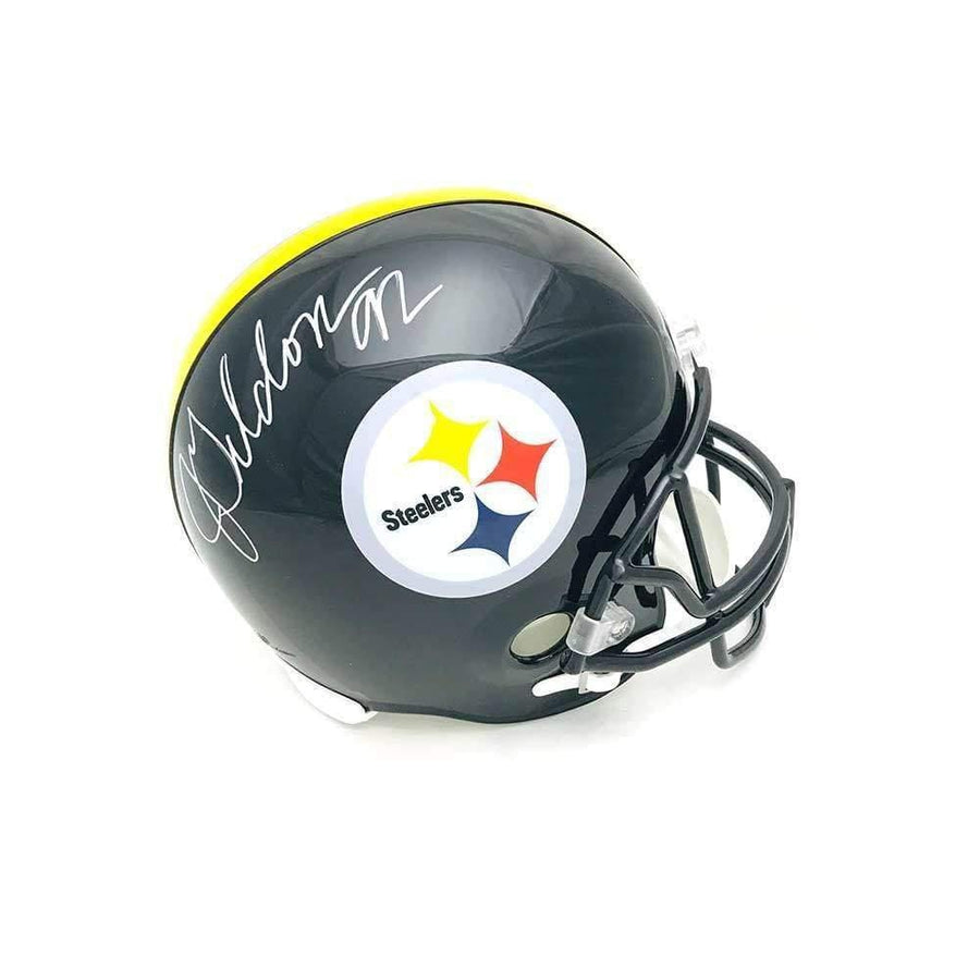 Jason Gildon Signed Pittsburgh Steelers Black FS Replica Helmet