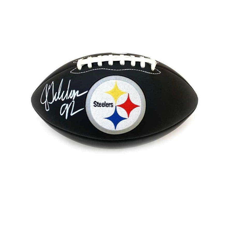 Jason Gildon Signed Pittsburgh Steelers Black Logo Football