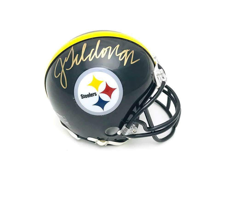 Jason Gildon Signed Pittsburgh Steelers Black Mini Helmet