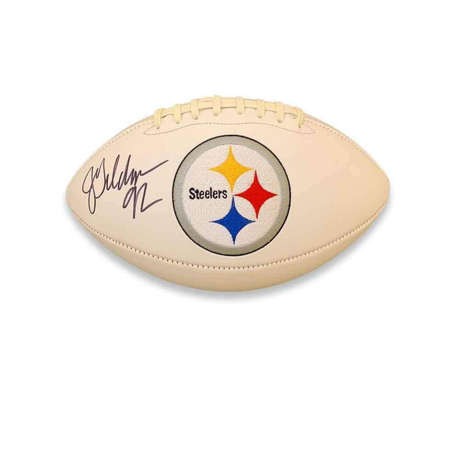 Jason Gildon Signed Pittsburgh Steelers White Logo Football
