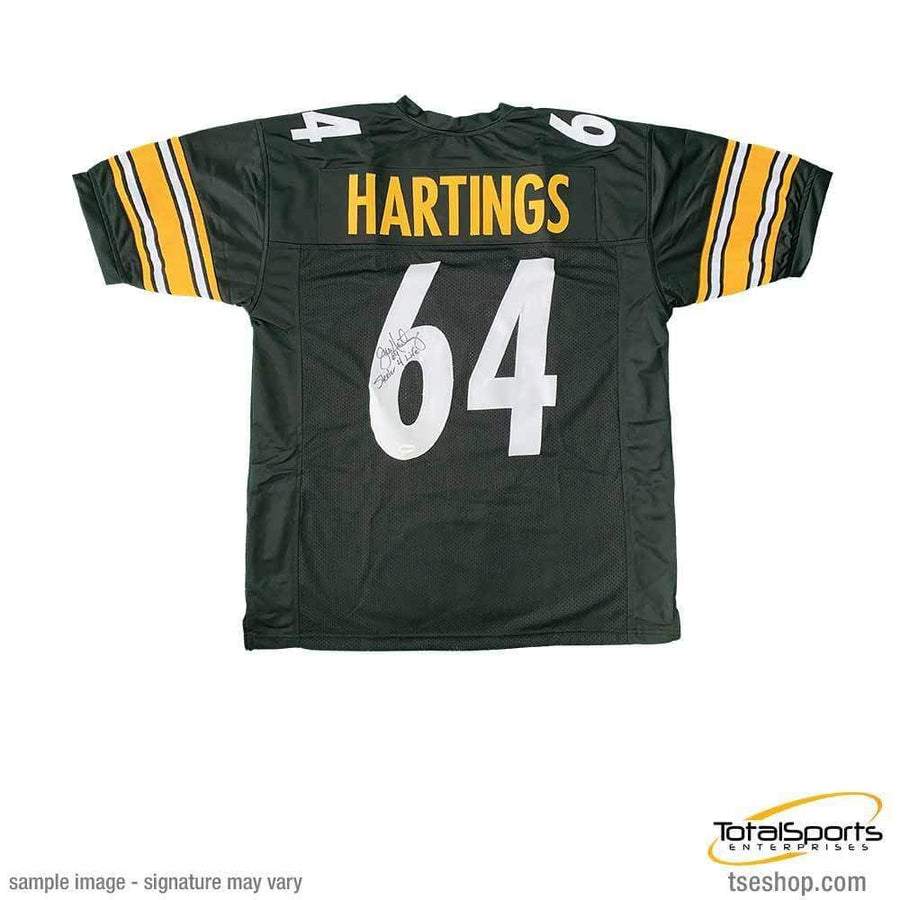 Jeff Hartings Autographed Black Custom Jersey with Steeler 4 Life