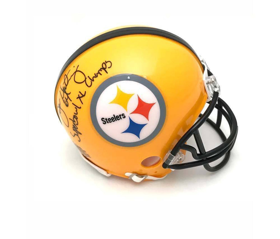 Jeff Hartings Autographed Pittsburgh Steelers 75th Anniversary Mini Helmet with Super Bowl XL Champ