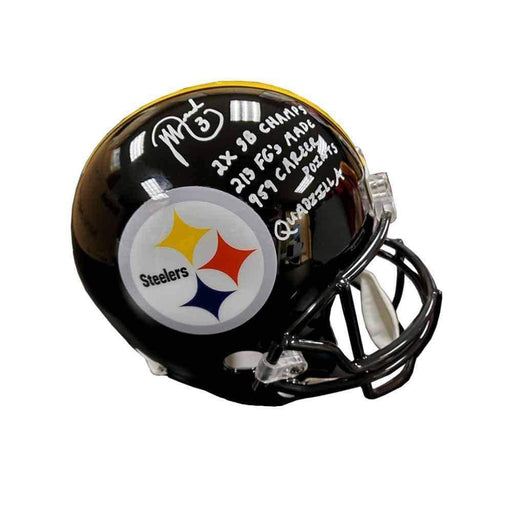 Jeff Reed Signed Pittsburgh Steelers Full Sized Black Replica Helmet with STATS