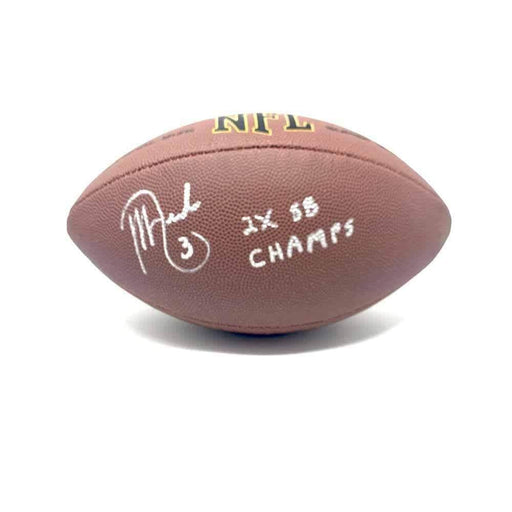 "Jeff Reed Signed Replica Football with ""2X SB Champs"""
