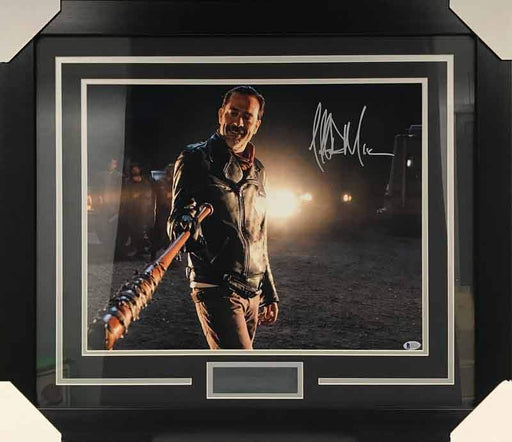 Jeffrey Dean Morgan Signed with Lucille 16x20 Photo - Professionally Framed