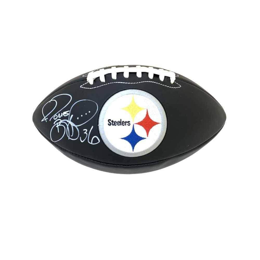 Jerome Bettis Autographed Black Leather Steelers Football